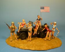 Lineol / Elastolin - Pin up Girls Diorama – 7cm Serie 1:24