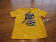 youth Boys 6  LRG roots equipment yellow t shirt NEW