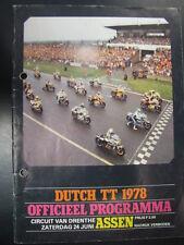 Officieel Programma Dutch TT Assen 1978