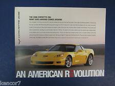 2006 Chevrolet Corvette Z06 Sales Brochure D8301