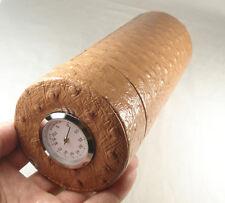 Fine COHIBA Genuine leather Travel Cigar Tube Jar Humidor Hygrometer Humidifier