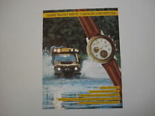 advertising Pubblicità 1990 CAMEL TROPHY WATCH MULTICHRONO