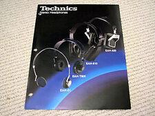 Technics EAH-810 / EAH-820 headphone brochure