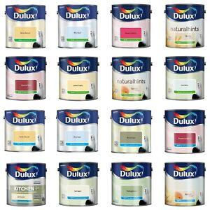 Dulux Emulsion Matt and Silk Paint ALL COLOURS 2.5L - Walls & Ceiling
