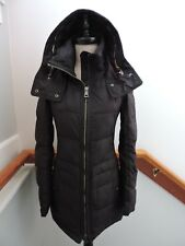 BURBERRY BRIT BLACK DOWN PUFFY HOODED JACKET PARKA COAT XS (0 2)