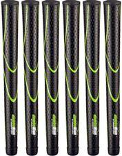 JumboMax Tour Series Golf Grips Black & Green Medium Size (+5/16) - Set of 6
