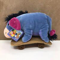 "Disney Eeyore Skateboarding (Winnie The Pooh) Plush Soft Toy BNWT 10"""
