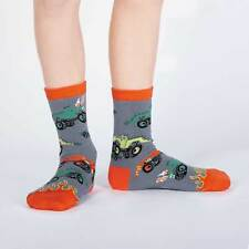 Sock It To Me Kids Crew Socks - Monster Trucks - Age: 7-10