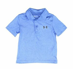 Under Armour Baby Boys Heather Blue Size 18 Months Short Sleeve Polo $27 146
