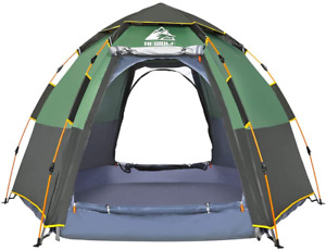 Waterproof Instant Camping Tent - 2-3 Person Easy Quick Setup Dome Family