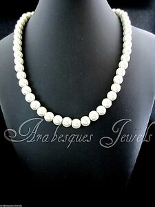 LOVELY LADIES MAGNETIC IVORY PEARL EFFECT NECKLACE. ARTHRITIS/PAIN RELIEF AJMB
