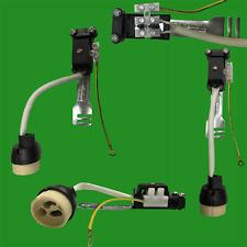 10x Gu10 Ceramic Socket Heat Resistant Flex Lamp Holder Bridge Downlight Earthed