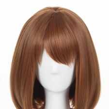 New Anime My Hero Academia Ochako Uraraka Short Wig Cosplay Costume with Wig Cap