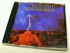 MEGA RARE - 1990 Aerosmith LIGHTNING STRIKES - Music Audio CD - LIVE IN BOSTON