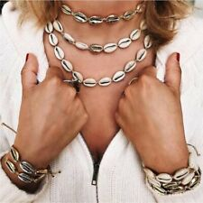 Fashion Sea Shell Pendant Choker Jewelry Set Necklace Bracelet Anklet Women Gift