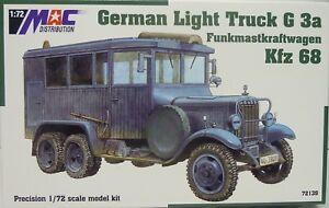 German Lights Truck G 3a, Radio Mast Motor Car Kfz.68, MAC , 1:72, Plastic, New
