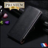 Etui housse coque Cuir Genuine Split Leather Flip case Wallet iPhone X Xs - Film