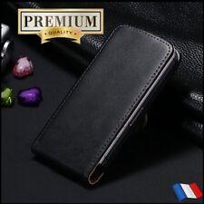 Etui housse coque Clapet Cuir Genuine Split Leather Flip case Wallet iPhone X