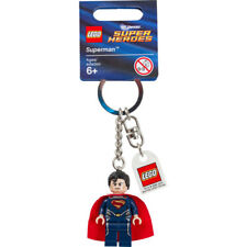 LEGO Super Heroes- Superman Dark Blue Keychain/ Key ring - NEW