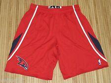 Mens Adidas Authentic NBA Atlanta Hawks Rev 30 On Court Game Shorts Red-2XL+2
