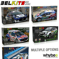 NEW! BELKITS 1/24 SCALE RALLY WRC CAR PLASTIC MODEL KITS - PHOTO ETCHED PARTS!