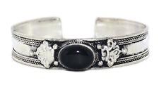 Onyx Bracelet Boho cuff Bracelet Silver Bracelet Tribal Bracelet Gypsy B