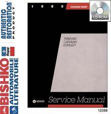 1985 Dodge Caravan Plymouth Voyager Shop Service Repair Manual DVD Drivetrain OE