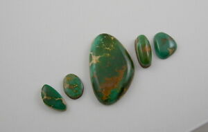 Royston Turquoise Five Cab Lot 33.9 cts. All Natural