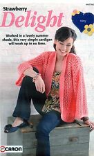 ~ Knitting Pattern for lady's magnifique dentelle bord à bord cardigan ~