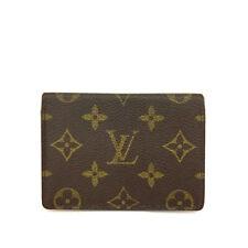 Louis Vuitton Monogram Porte 2 cartes Vertical Pass Card Case /90803