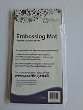 FLEURS EMBOSSING/FLOWER FORMING CRAFT MAT. 9.5cm x 18cm. NEW, FREE UK POSTAGE