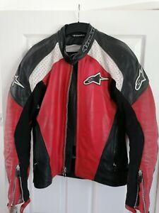ALPINESTARS /ARMOURED LEATHER MOTORCYCLE JACKET