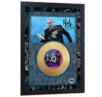 New! The Prodigy Keith Flint  Mini Gold Vinyl CD Record Signed Framed