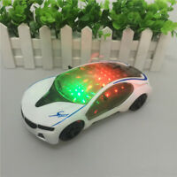 3D LED Flashing Light Car Toys Electric Music Sound Cars Children Xmas Kid Toy