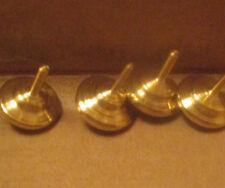 Small Brass Spinning Tops, Handmade, Miniature, Pocket Sized, Nice Finish