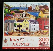 "Town & Country 300 piece Jigsaw Puzzle ""Home Port"" large EZ grip pieces"