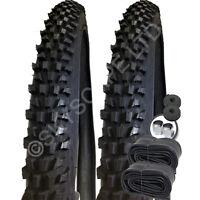 "2 x MOUNTAIN BIKE TYRES 26"" 24"" 20"" Pair Cycle Tire Tubes - FREE P&P RRP £29.99"