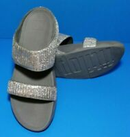 Fitflop Slide Sandals Silver (Shimmer) WOMEN'S SIZE: 11 Pre-owned