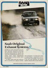 Saab Butik Original Replacement Exhaust Systems 1983 UK Leaflet Brochure 900 99