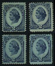 4x R152a & R152b LIBERTY Revenue Tax Stamps CV$10 Mint