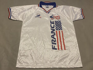 1998 FRANCE WORLD CUP TEAM USA FOOTBALL SOCCER JERSEY L/XL EUC Futbol