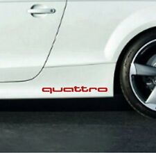 AUDI Quattro Vinyl Decal sticker Sport Racing emblem Sticker 2x side stickers