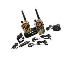 Weather Scan Walkie Talkie Waterproof Radio Communication Device Pair Mossy Oak