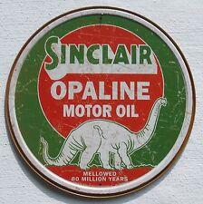 Sinclair Motor Oil estados unidos gasolineras Dino logotipo metal publicidad escudo