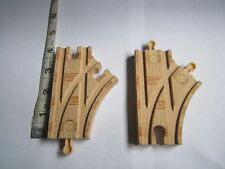 "Wooden Thomas The Train Track 4"" Switch Switches Lot of two"