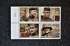 2000USA #3393-3396 33c Distinguished Soldiers - Selvage Block of 4 - Mint