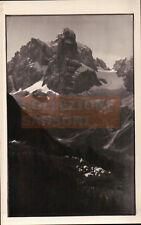 1934 - FOTO PAESAGGIO DI MONTAGNA ACCAMPAMENTO DI TENDE DOLOMITI O ALPI C9-1106