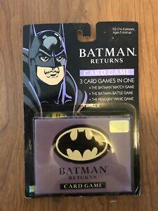 Vintage 1992 Parker Brothers Batman Returns Card Game 3-In-One UNOPENED