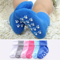 Baby Girls Candy Color Cotton Kids Socks Anti Slip Socks Boys Soft Socks AU