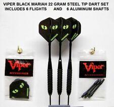 Viper Black Mariah 22 gm Steel Tip Darts with 6 Cat Eye's Flights-6 Shafts